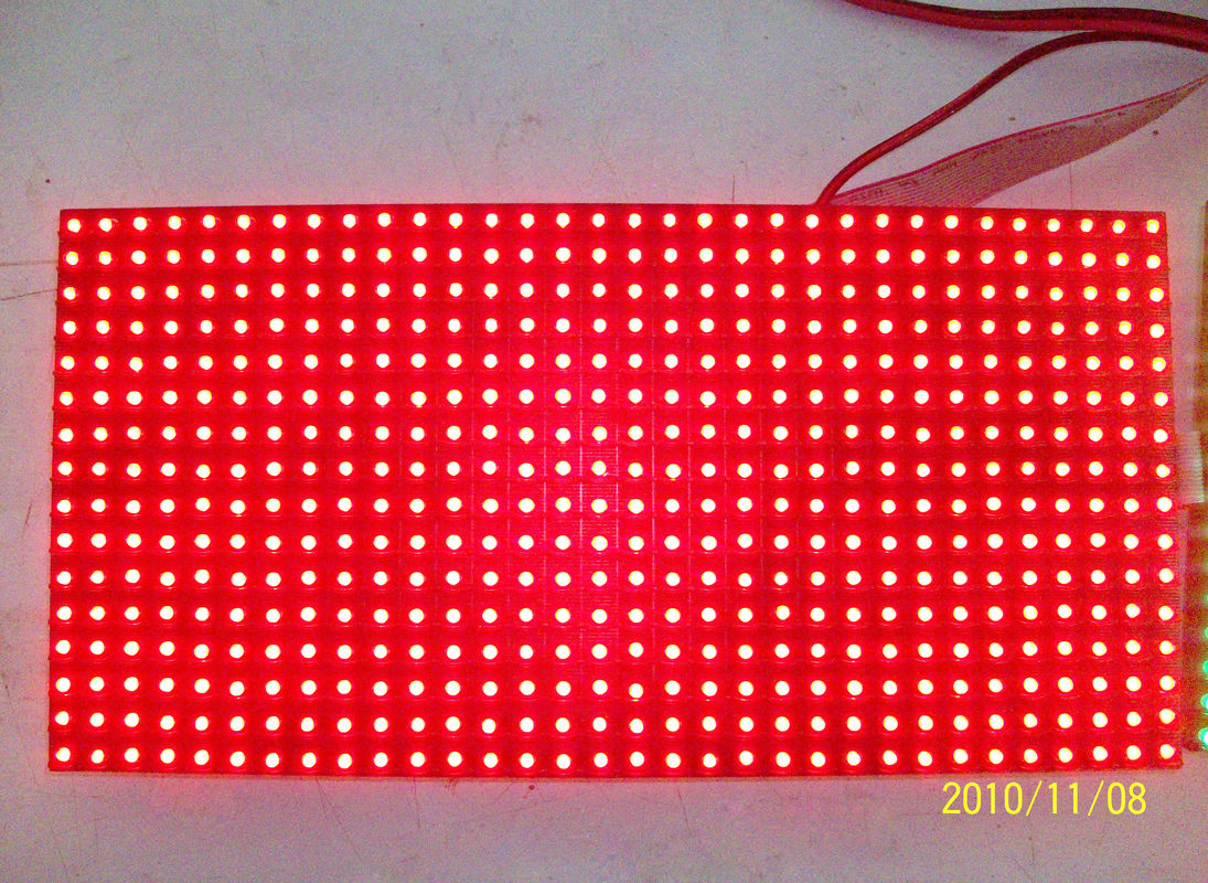 Mono Color LED Display Module ,  320mm * 160mm 1R Pixel IP65 LED Modules for Signs