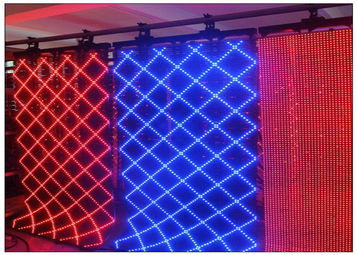 Animation Show Lightweight Soft P10 Indoor Flexible Display Screen SMD Scrolling Full Color