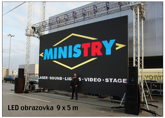 DVI VGA Rental LED Display Full Color Outdoor Ultra Slim for Video Advertising IP67