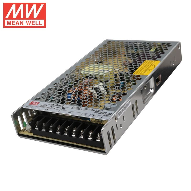 MEANWell 200W 5V 40A Ultra Thin waterproof led power supply for SMD DIP LED Module full color